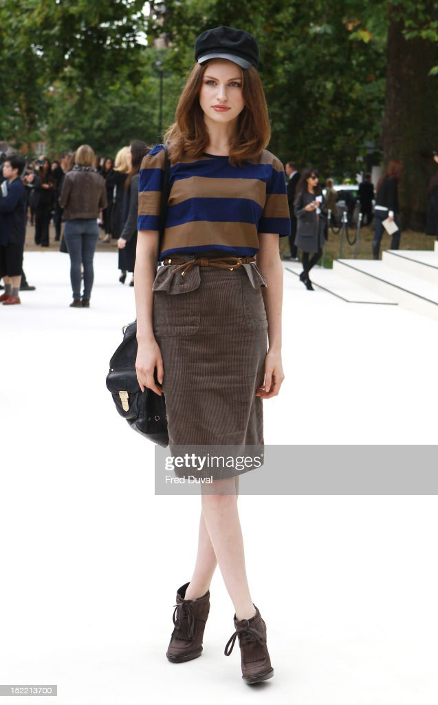 Tali Lennox attends the Burberry Prorsum show on day 4 of London Fashion Week Spring/Summer 2013, on September 17, 2012 in London, England.