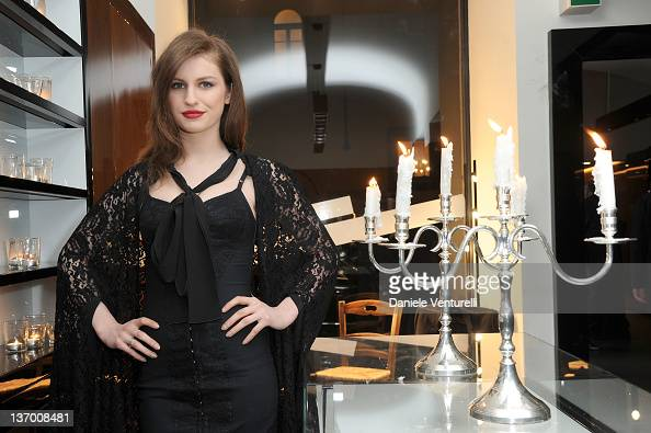 Tali Lennox attends the Dolce Gabbana 'La Bella Estate' Cocktail Launch during Milan Fashion Week Menswear Autumn/Winter 2012 on January 14 2012 in...