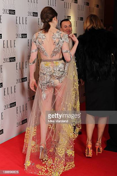 Tali Lennox attends the ELLE Style Awards 2012 at The Savoy Hotel on February 13 2012 in London England