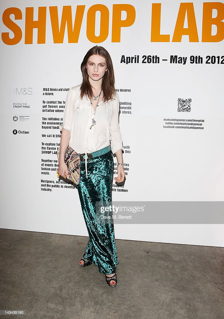 Tali Lennox attends the launch of MS Shwopping at the Shwop Lab on April 26 2012 in London England