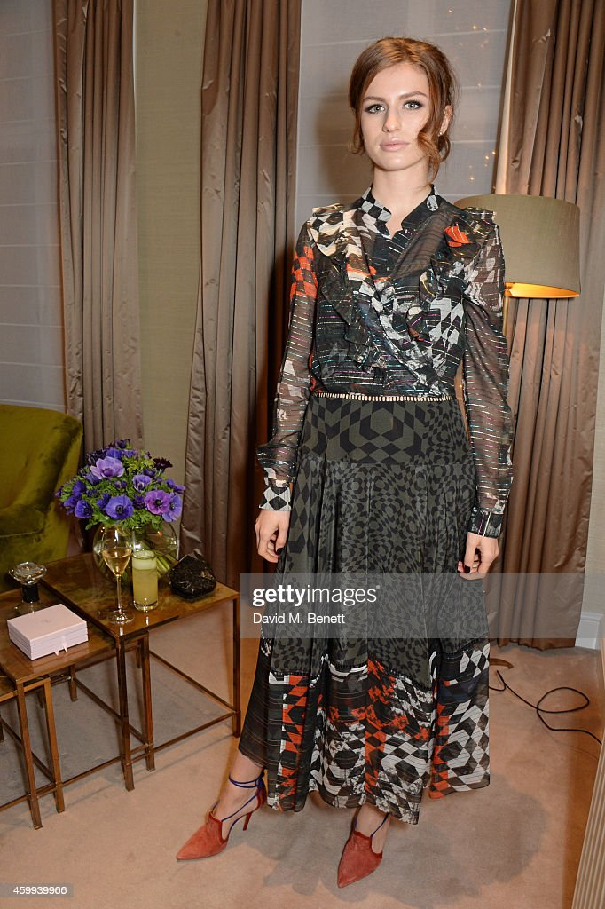 Tali Lennox attends the Launch of the Malone Souliers SS15 Collection at MATCHESFASHIONCOM on December 4 2014 in London England