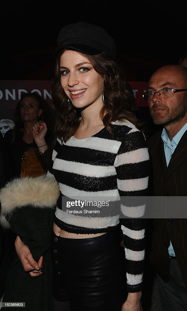 Tali Lennox attends the premiere of 'Crazy Horse' on September 19, 2012 in London, England.