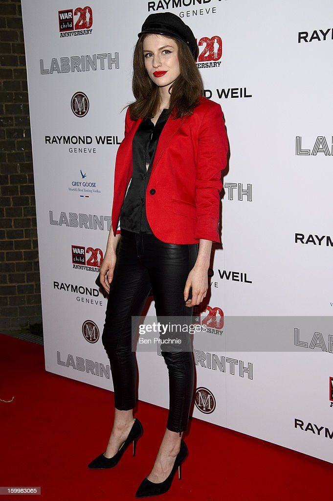 Tali Lennox attends the Raymond Weil pre-Brit Awards dinner and 20th anniversary celebration of War Child at The Mosaica on January 24, 2013 in London, England.