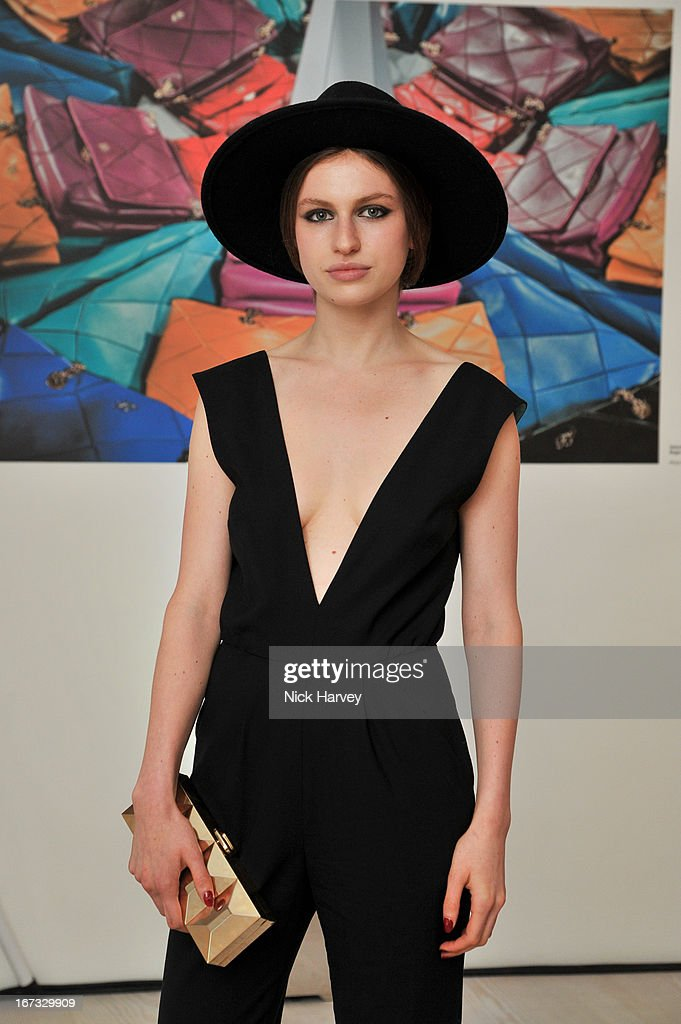 Tali Lennox attends the Roger Vivier book launch party at Saatchi Gallery on April 24, 2013 in London, England.