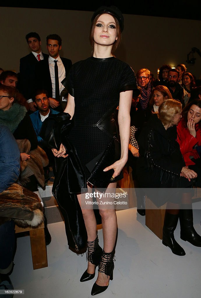 <a gi-track='captionPersonalityLinkClicked' href=/galleries/search?phrase=Tali+Lennox&family=editorial&specificpeople=5602601 ng-click='$event.stopPropagation()'>Tali Lennox</a> attends the Salvatore Ferragamo fashion show during Milan Fashion Week Womenswear Fall/Winter 2013/14 on February 24, 2013 in Milan, Italy.