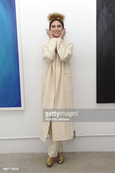 Tali Lennox attends the Tali Lennox Exhibition Opening Reception at Catherine Ahnell Gallery on March 18 2015 in New York City