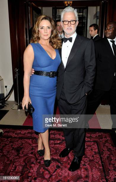 Talia Balsam and John Slattery arrive at the GQ Men Of The Year Awards 2012 at The Royal Opera House on September 4 2012 in London England