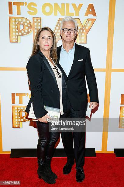 Talia Balsam and John Slattery attend 'It's Only A Play' Broadway Opening Night Arrivals And Curtain Call at Gerald Schoenfeld Theatre on October 9...