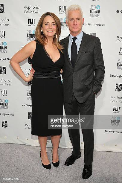 Talia Balsam and John Slattery attend the 25th IFP Gotham Independent Film Awards cosponsored by FIJI Water at Cipriani Wall Street on November 30...