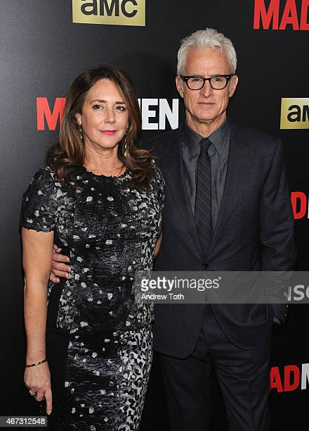 Talia Balsam and John Slattery attend the 'Mad Men' New York special screening at The Museum of Modern Art on March 22 2015 in New York City