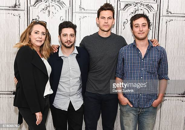 Talia Balsam Julian Branciforte Tom Lipinski and John Magaro attend AOL Build to discuss the film 'Don't Worry Baby' at AOL HQ on July 20 2016 in New...