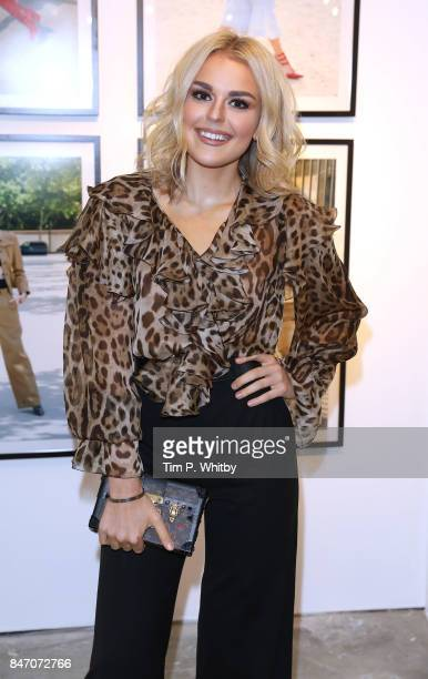 Talia Storm attends the 'A Front Row Seat' photography exhibition by Kirstin Sinclair at The Subculture Archives on September 14 2017 in London...