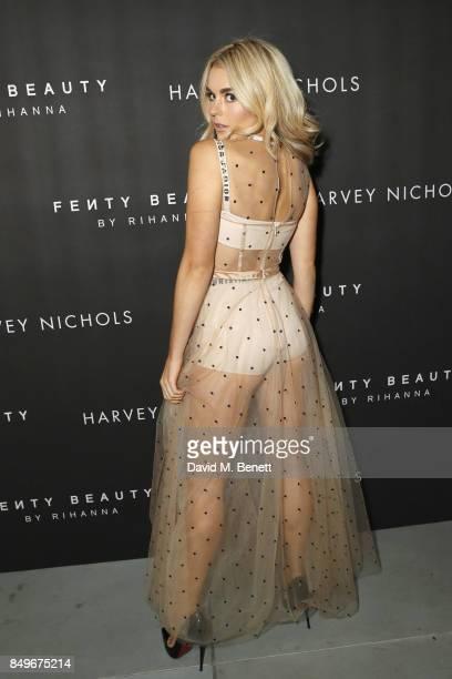 Talia Storm attends the Fenty Beauty x Harvey Nichols Launch at Harvey Nichols on September 19 2017 in London England