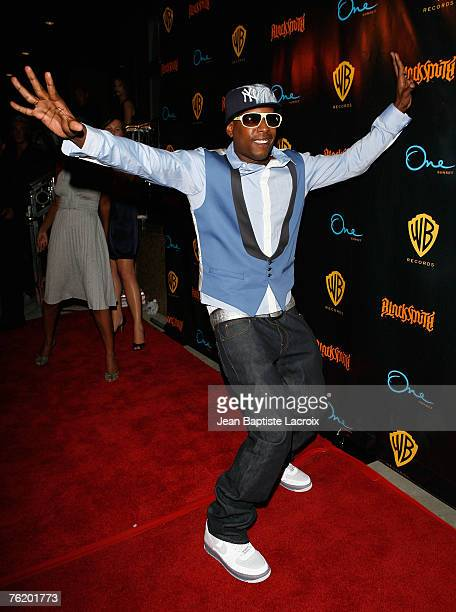 Talib Kweli arrives for Talib Kweli's 'Ear Drum' release party held at One Sunset on August 20 2007 in Los Angeles California