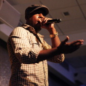 Talib Kweli attends The Beat's first offical Poetry Slam at MTV Studios on February 7 2011 in New York City