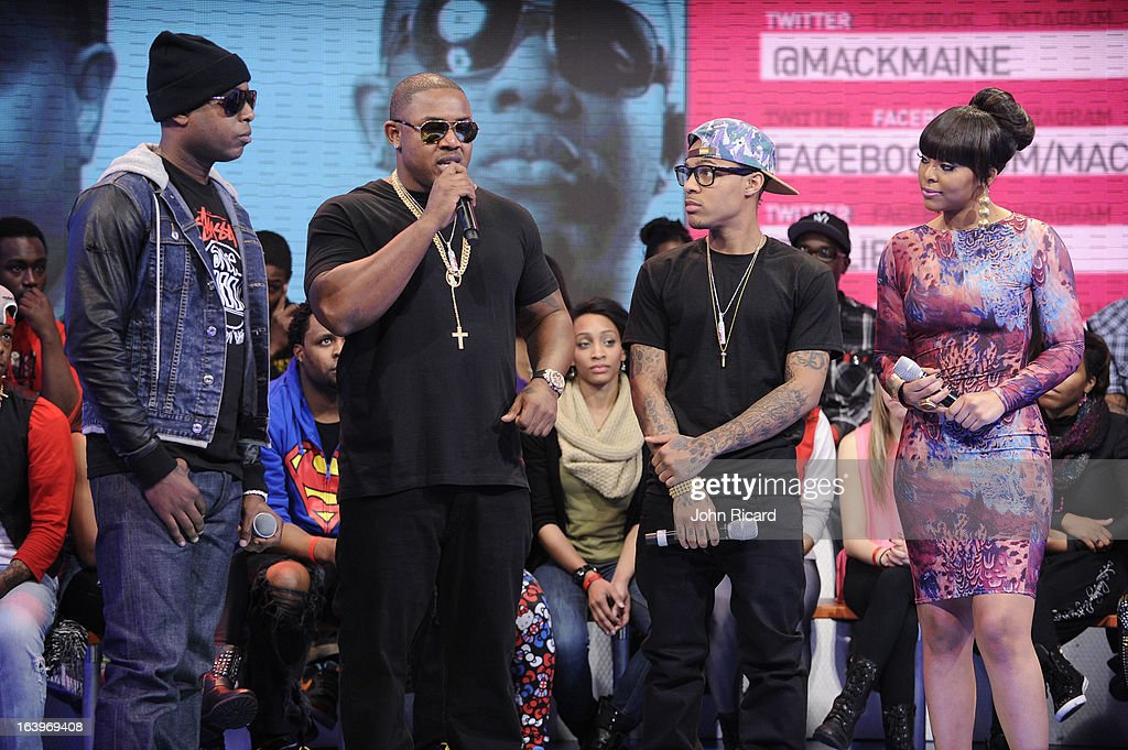 Talib Kweli, Mack Maine, Bow Wow and Paigion during BET's '106 & Park' at BET Studios on March 18, 2013 in New York City.