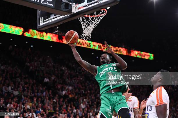 Talib Zanna of Nanterre during the Final of the French Cup between Le Mans and JSF Nanterre at AccorHotels Arena on April 22 2017 in Paris France