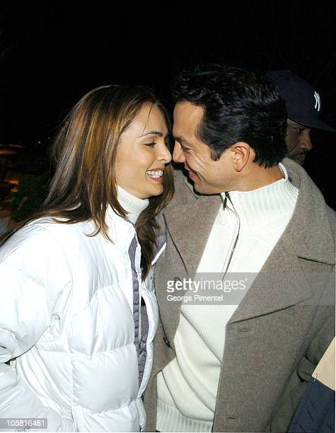 Talisa Soto and Benjamin Bratt during 2004 Sundance Film Festival 'The Woodsman' Premiere at The Library in Park City Utah United States