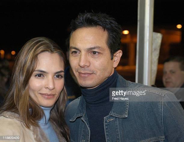 Talisa Soto and Benjamin Bratt during 2004 Sundance Film Festival 'The Machinist' Premiere at Eccles in Park City Utah United States