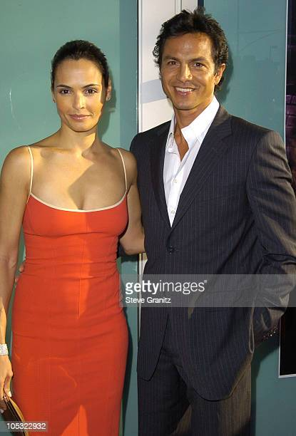 Talisa Soto and Benjamin Bratt during 'Catwoman' World Premiere Arrivals at Cinerama Dome in Hollywood California United States