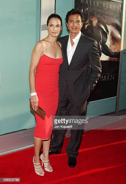 Talisa Soto and husband Benjamin Bratt during 'Catwoman' Los Angeles Premiere Arrivals at ArcLight Cinerama Dome in Hollywood California United States