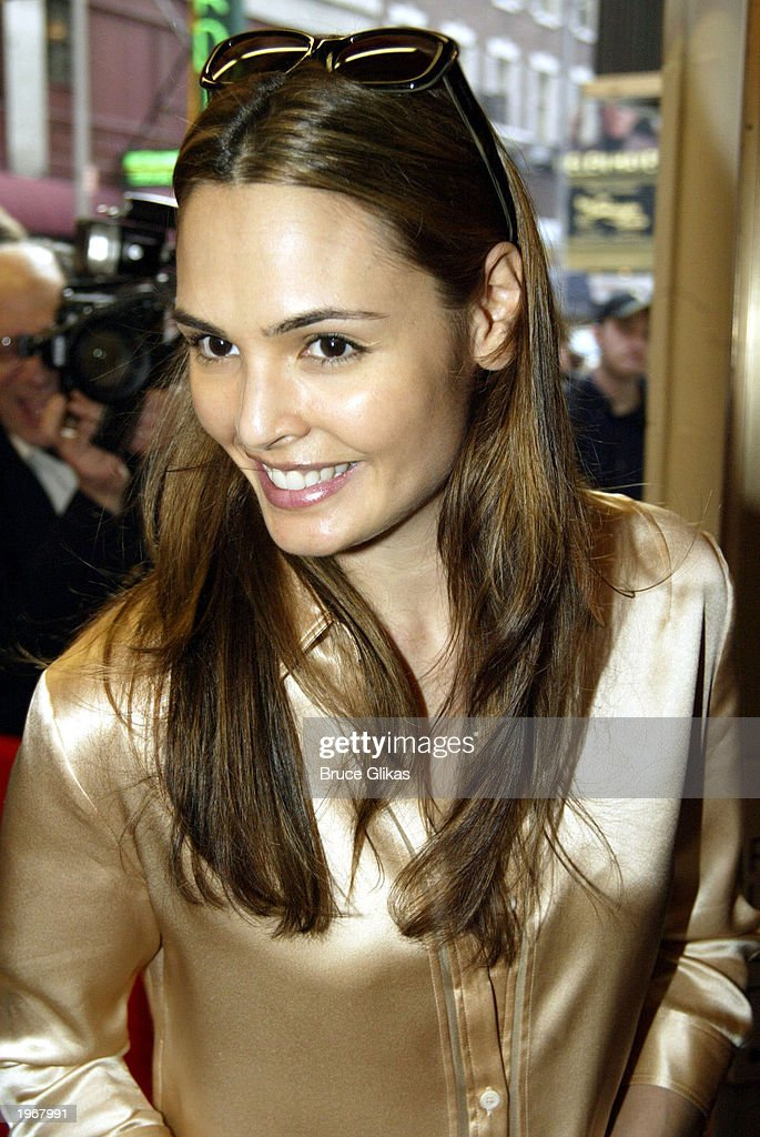 Talisa Soto arrives at the opening night of 'Gypsy' on Broadway at The Shubert Theatre May 1, 2003 in New York City.