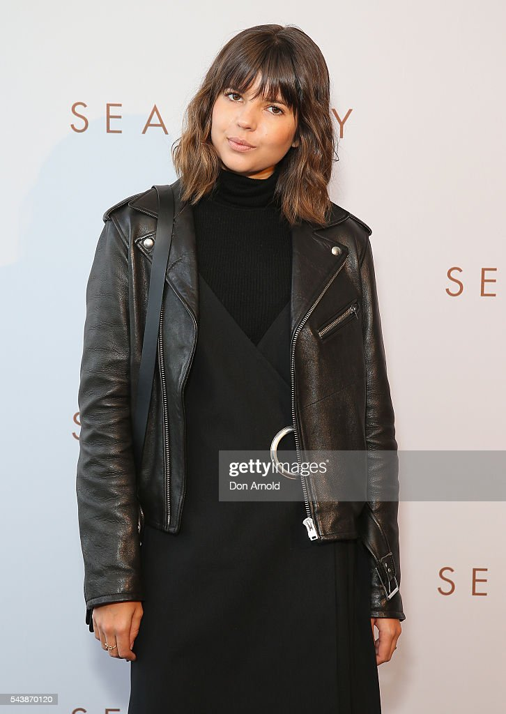 Talisa Sutton arrives ahead of the Seafolly Spring 2016 Campaign Launch on June 30, 2016 in Sydney, Australia.