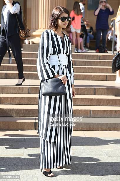 Talisa Sutton attends MercedesBenz Fashion Week Australia 2015 at the Art Gallery of NSW on April 16 2015 in Sydney Australia