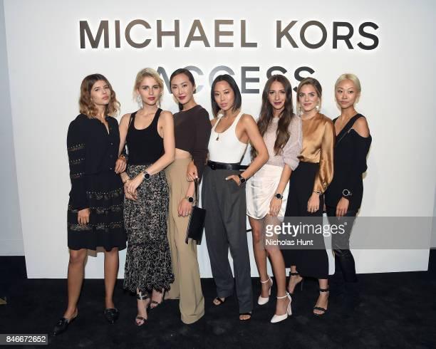 Talisa Sutton Caro Daur Chriselle Lim Aimee Song Arielle Charnas Julia Engel and Vanessa Hong attend Michael Kors and Google Celebrate new MICHAEL...