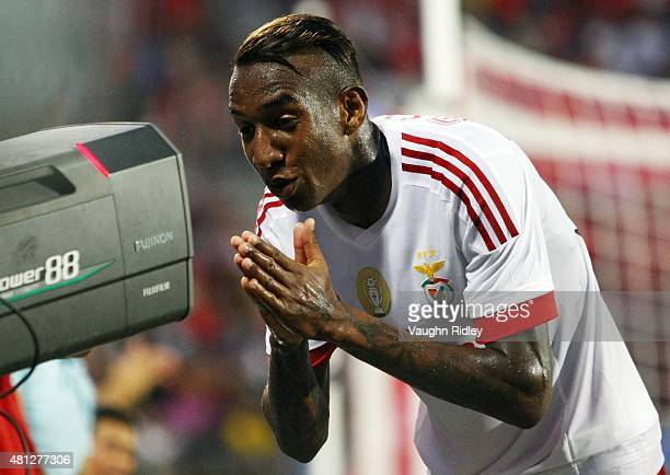 Talisca of Benfica celebrates a goal during the 2015 International Champions Cup match against Paris SaintGermain at BMO Field on July 18 2015 in...