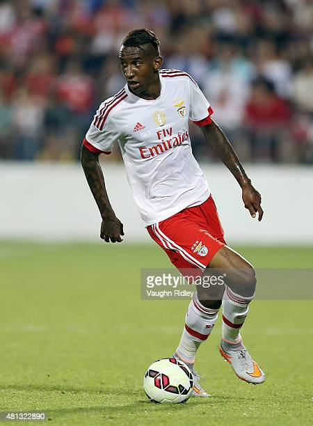 Talisca of Benfica in action during the 2015 International Champions Cup match against Paris SaintGermain at BMO Field on July 18 2015 in Toronto...