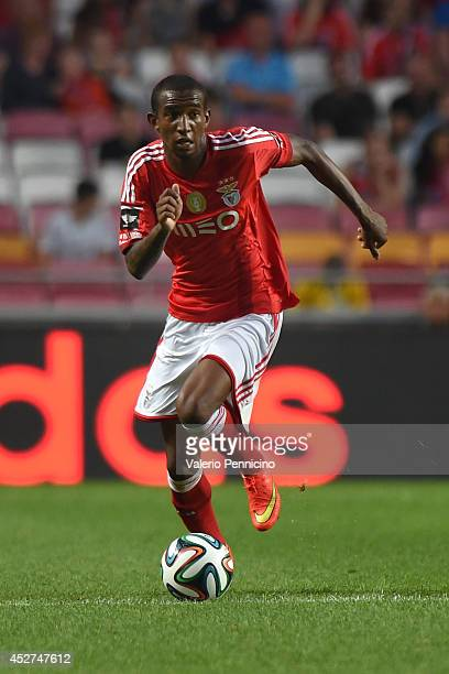 Talisca of SL Benfica controls the ball during the Eusebio Cup match between SL Benfica and Ajax at Estadio da Luz on July 26 2014 in Lisbon Portugal