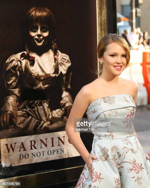 Talitha Bateman arrives at the Los Angeles premiere of New Line Cinema's 'Annabelle Creation' held at TCL Chinese Theatre on August 7 2017 in...