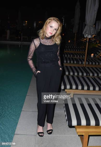 Talitha Bateman attends Prada And Flaunt Celebrate The Aftershock Issue New America on September 7 2017 in Los Angeles California