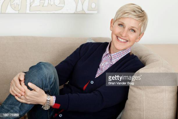 Talk show host and comedian Ellen Degeneres is photographed for Los Angeles Times on April 2 2013 in Burbank California PUBLISHED IMAGE CREDIT MUST...