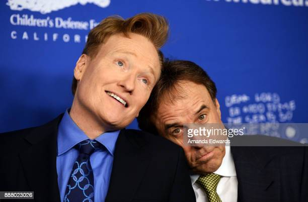 Talk show host Conan O'Brien and actor Kevin Nealon arrive at the Children's Defense FundCalifornia's 27th Annual Beat The Odds Awards at the Beverly...