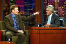 Talk show host Conan O'Brien appears on 'The Tonight Show with Jay Leno' at the NBC Studios September 5 2003 in Burbank California
