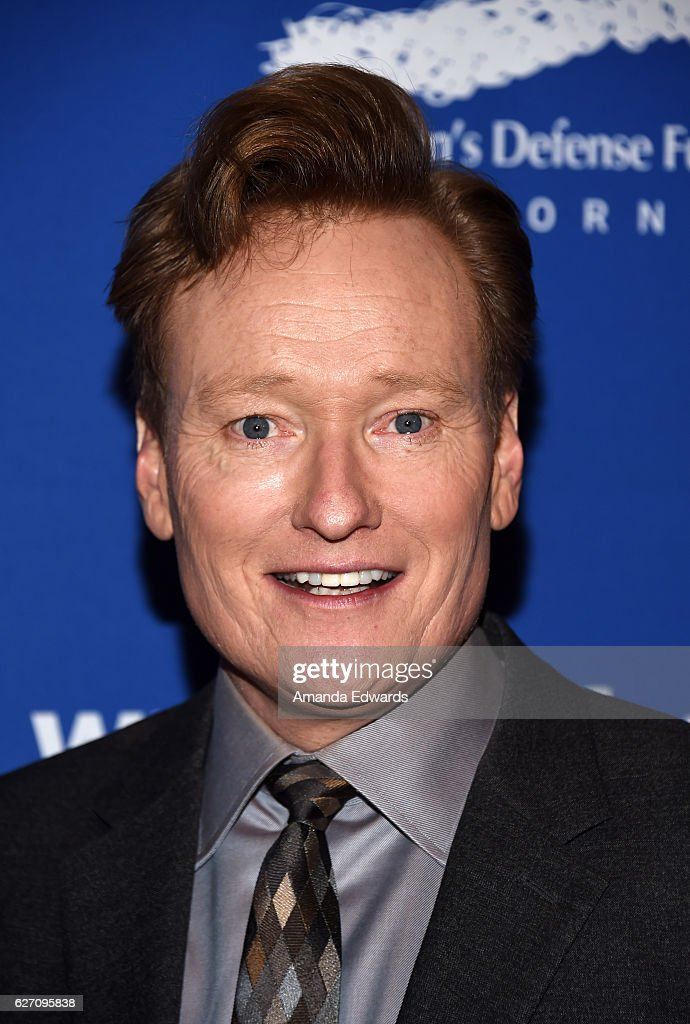 Talk show host Conan O'Brien arrives at the Children's Defense Fund-California's 26th Annual Beat The Odds Awards at the Beverly Wilshire Four Seasons Hotel on December 1, 2016 in Beverly Hills, California.
