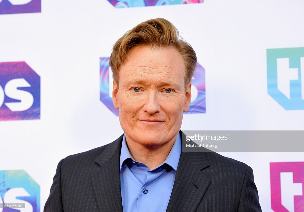 Talk show host <a gi-track='captionPersonalityLinkClicked' href=/galleries/search?phrase=Conan+O%27Brien&family=editorial&specificpeople=208095 ng-click='$event.stopPropagation()'>Conan O'Brien</a> attends TBS's A Night Out With - For Your Consideration event at The Theatre at Ace Hotel on May 24, 2016 in Los Angeles, California.