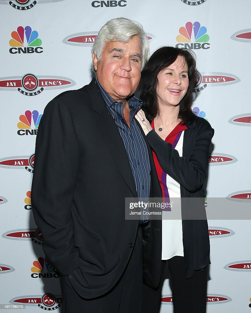 Talk show host Jay Leno and Mavis Leno attend 'Jay Leno's Garage' Launch Party at Press Lounge at Ink48 on October 7 2015 in New York City