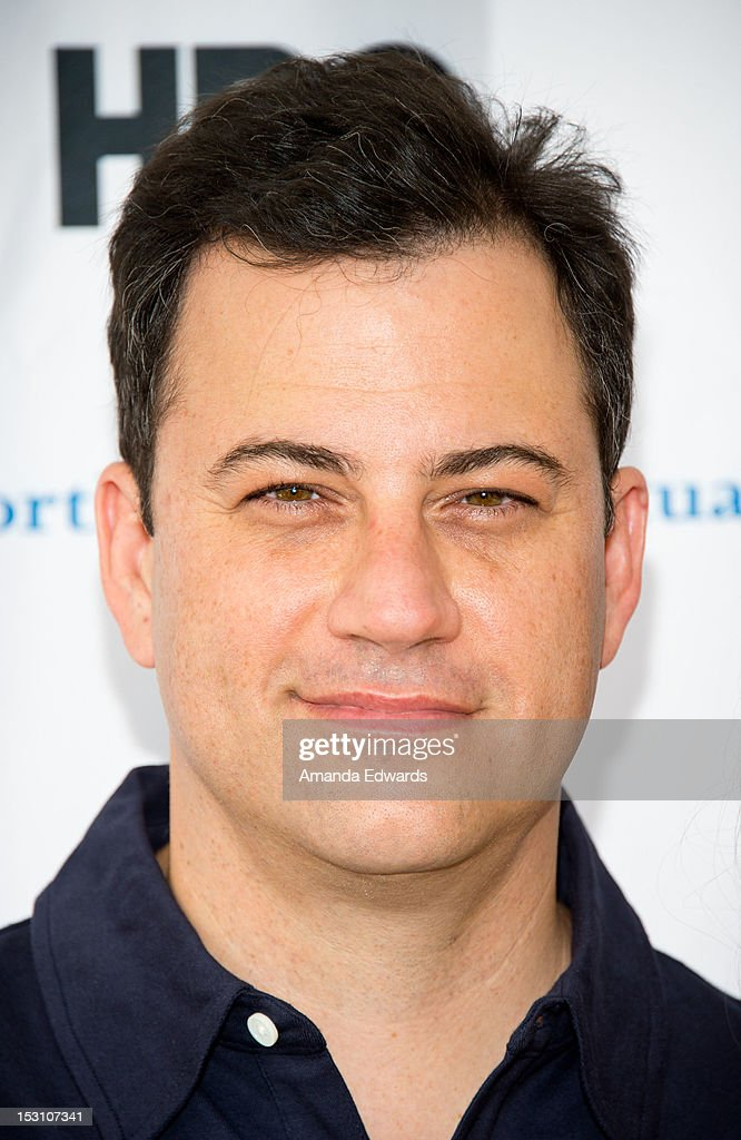 Talk show host <a gi-track='captionPersonalityLinkClicked' href=/galleries/search?phrase=Jimmy+Kimmel&family=editorial&specificpeople=214115 ng-click='$event.stopPropagation()'>Jimmy Kimmel</a> arrives at the L.A. Loves Alex's Lemonade Culinary Event at Culver Studios on September 29, 2012 in Culver City, California.