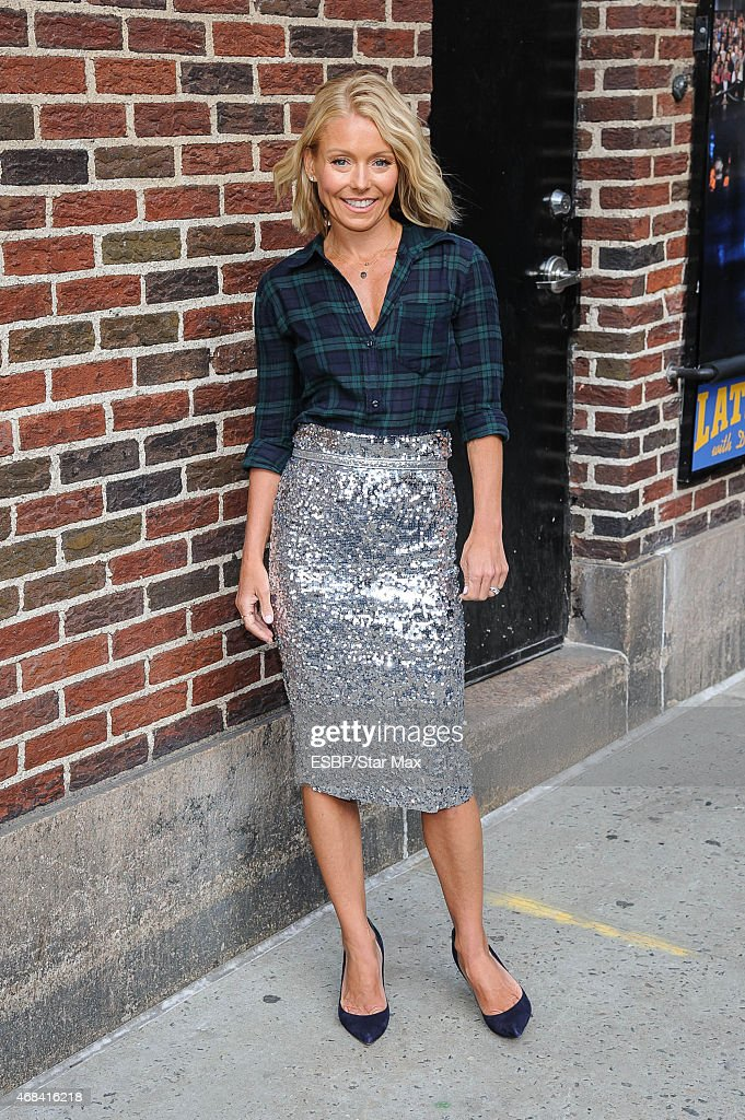 Talk show host Kelly Ripa is seen on April 2 2015 in New York City