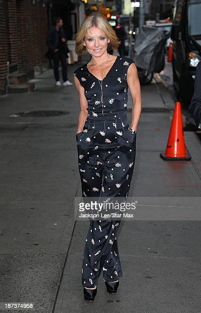 Talk Show Host Kelly Ripa is seen on November 7 2013 in New York City