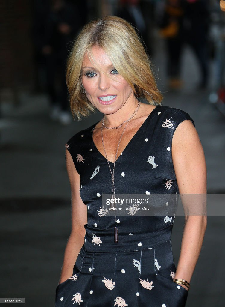 Talk Show Host <a gi-track='captionPersonalityLinkClicked' href=/galleries/search?phrase=Kelly+Ripa&family=editorial&specificpeople=202134 ng-click='$event.stopPropagation()'>Kelly Ripa</a> is seen on November 7, 2013 in New York City.