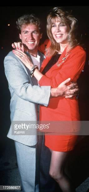 Talk show host Leeza Gibbons and her husband actor Christopher Quinten circa 1990