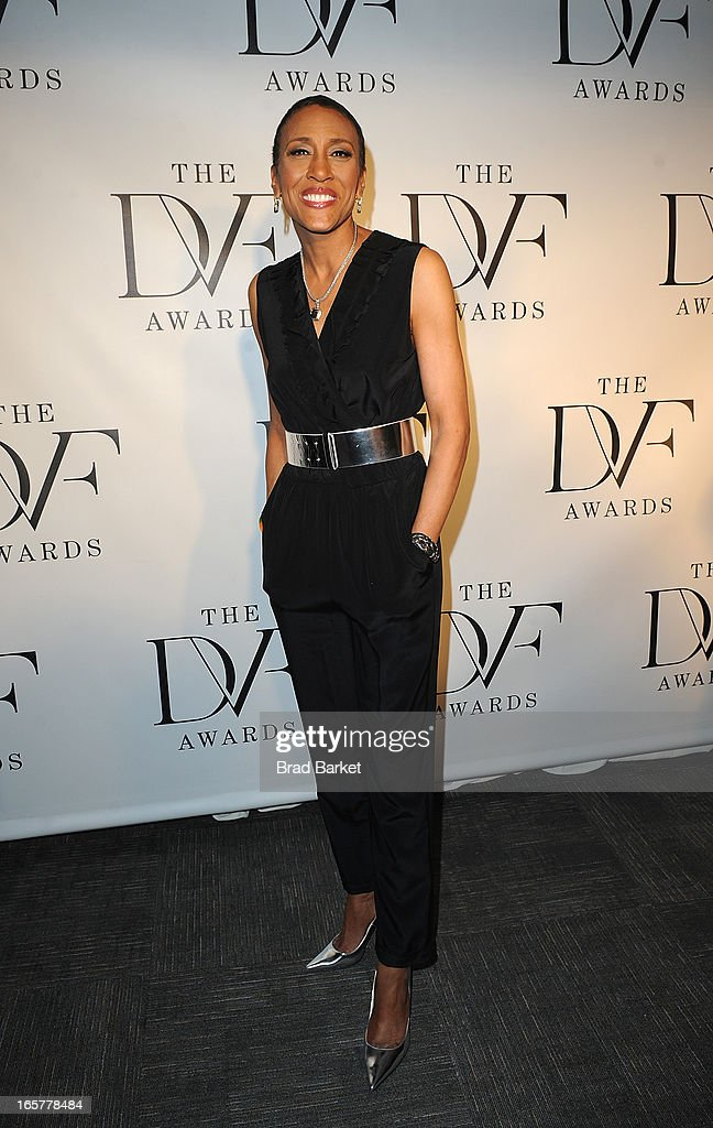 Talk show host Robin Roberts attends 2013 DVF Awards at United Nations on April 5, 2013 in New York City.