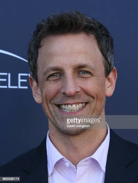 Talk show host Seth Meyers attends NBC's 'Late Night with Seth Meyers' FYC event at the Television Academy on May 19 2017 in Los Angeles California