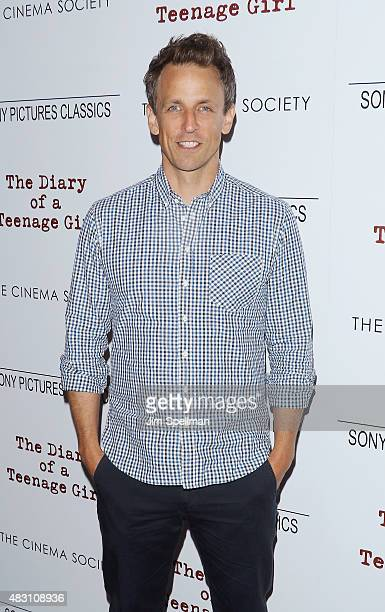 Talk show host Seth Meyers attends the Sony Pictures Classics with The Cinema Society host a screening of 'The Diary Of A Teenage Girl' at Landmark's...