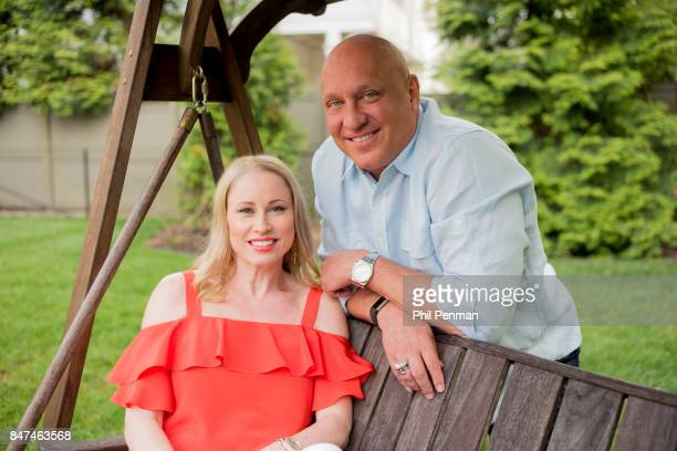 Talk show host Steve Wilkos and wife Rachelle are photographed for Closer Weekly Magazine on May 11 2017 at home in Connecticut