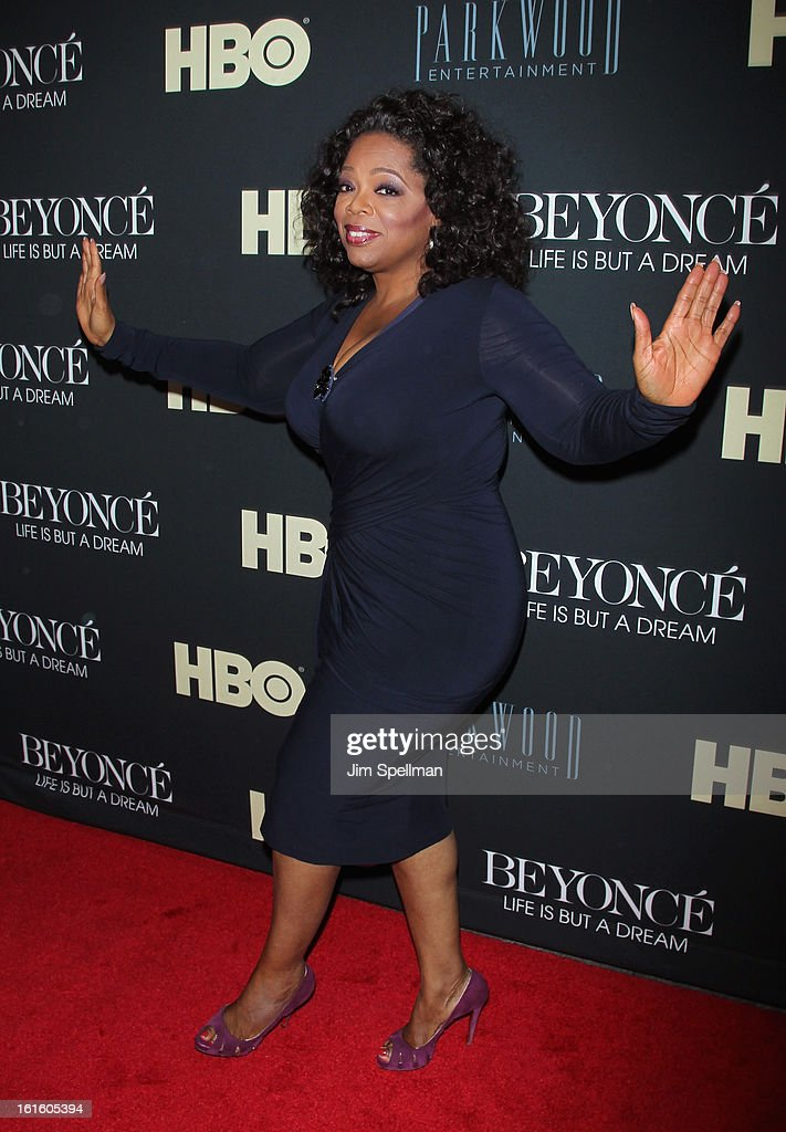 Talk Show Host/actress Oprah Winfrey attends 'Beyonce: Life Is But A Dream' New York Premiere at Ziegfeld Theater on February 12, 2013 in New York City.
